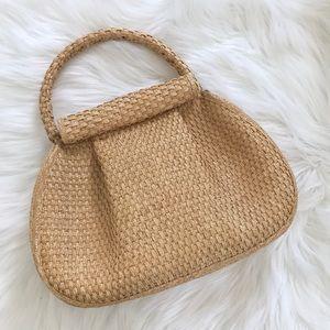 VINTAGE Wicker Straw Woven Handbag